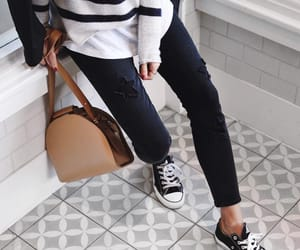bag, jeans, and sweater image