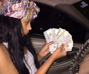 money, cars, and girl image