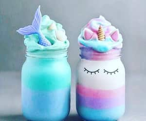 unicorn, drink, and food image