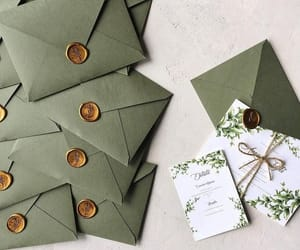 bride, invitations, and wedding image