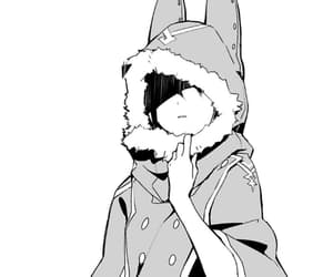anime, art, and black & white image
