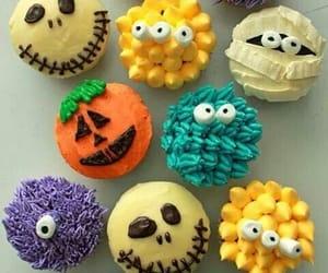 food, Halloween, and cupcake image