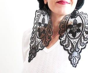 big earrings, dangle earring, and gothic image