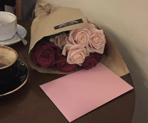 brown, coffee, and flowers image