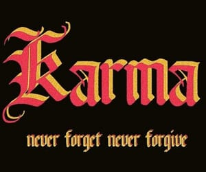 karma, quotes, and black image