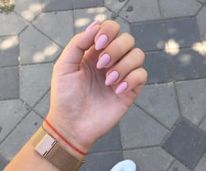 golden, manicure, and nail image