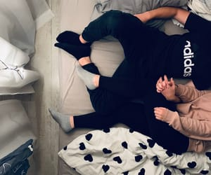 adidas, bed, and blanket image