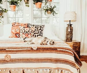 bedroom, plants, and boho image