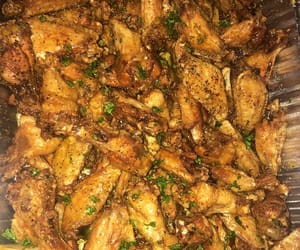 food, tasty, and wings image
