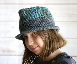 etsy, womens hats, and crochet fedora hat image