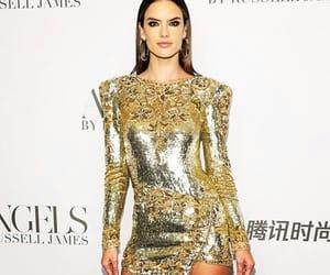 alessandra ambrosio, fashion, and gold image