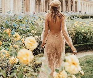 dress, flowers, and garden image