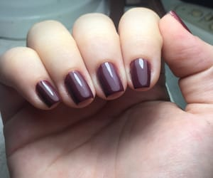 beauty, nails, and wine red image