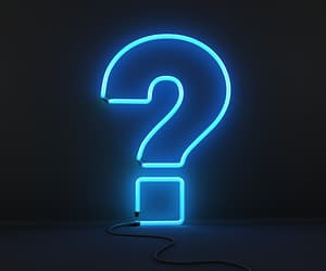 blue, neon, and question mark image