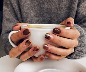 autumn, coffee, and manicure image