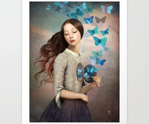 art, butterflies, and illustration image