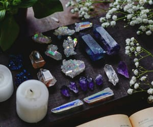 crystal, candle, and magic image