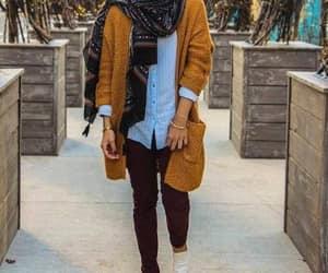 oversized cardigan hijab image