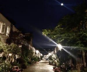 london, moon, and night image