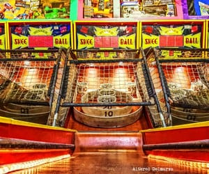 amusement park, arcade, and arcade games image