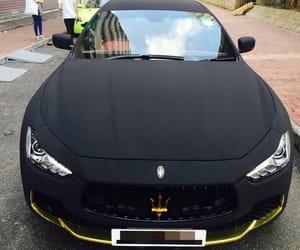 black, car, and maserati image