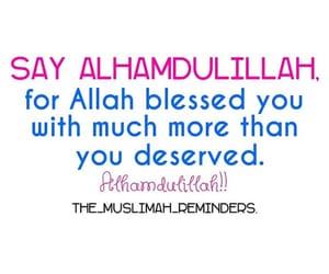 alhamdullilah, dhikr, and muslims image