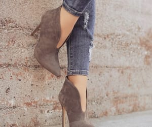 ankle, brown, and fashion image