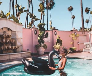 ete, piscine, and bouée image