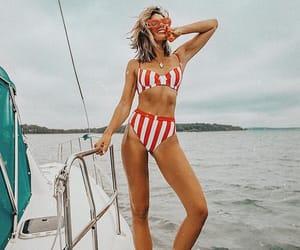 boat, summer, and swimwear image