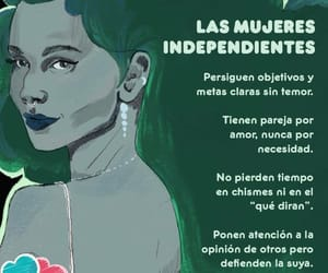fuerza, independiente, and mujer image