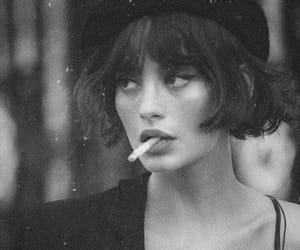 girl, vintage, and black and white image