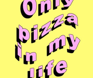 phone, pink, and pizza image