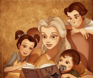 belle, disney, and children image