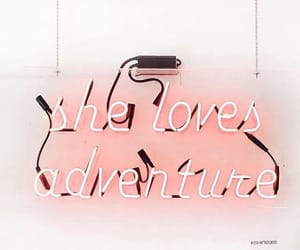 adventure, pink, and quotes image