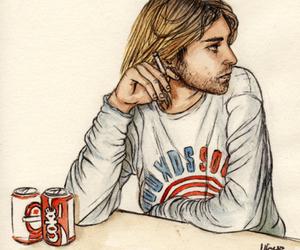 kurt cobain, nirvana, and drawing image