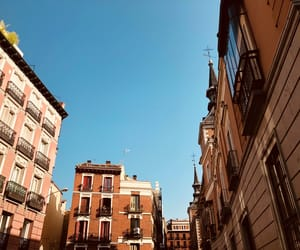blue sky, city, and madrid image