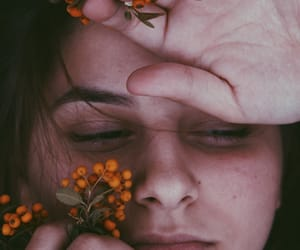 aesthetics, face, and flower image