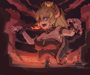 anime, game, and super mario bros image
