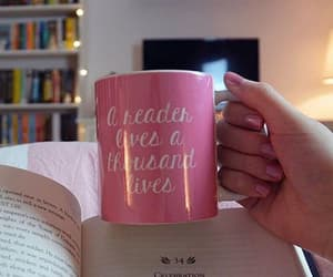 book, pink, and bookworm image