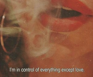love, quotes, and smoke image