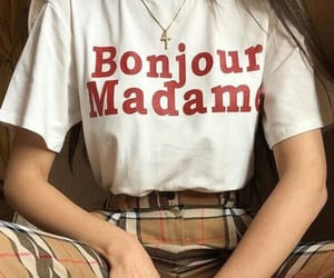 red, white, and bonjour image