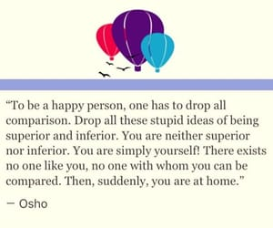 happy, osho, and quote image