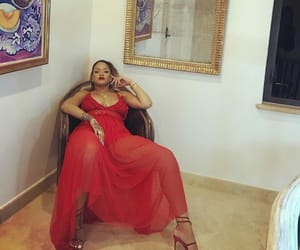 rihanna, red, and dress image