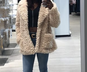 cozy, furry coat, and fluffy jacket image