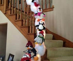 christmas, staircases, and decorations image