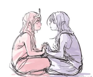 anime, gif, and lesbians image