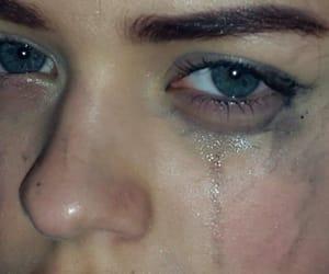 eyes, crying, and sad image