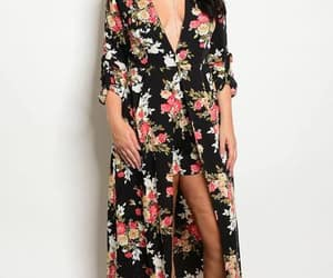 floral, plus size, and ladies fashion image