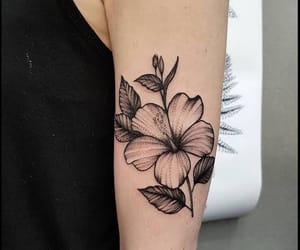 beautiful, black, and flower image