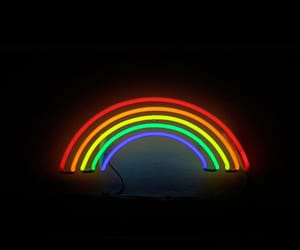 rainbow, wallpaper, and black image